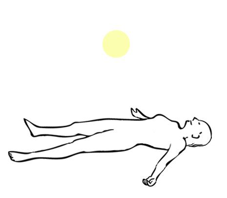 光で体を癒す瞑想